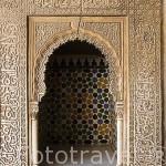 Taca. Patio de Arrayanes. Palacio de Comares. Palacios Nazaries. La Alhambra, UNESCO. Ciudad de GRANADA. Andalucia. España