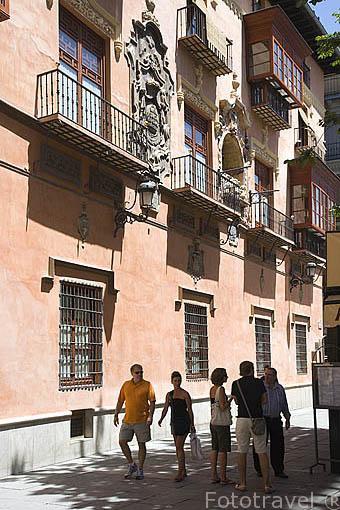 Plaza Bib-Rambla. Ciudad de GRANADA. Andalucia. España