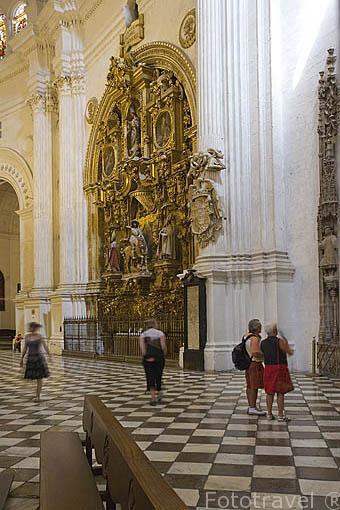 Retablo de Santiago. Interior de la catedral. Ciudad de GRANADA. Andalucia. España