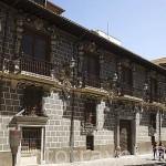 Fachada del Palacio de la Madraza. Ciudad de GRANADA. Andalucia. España