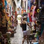 Tiendas y mercado en la Alcaiceria. Ciudad de GRANADA. Andalucia. España