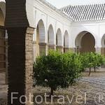 Patio interior mudejar. Iglesia del Salvador. Barrio del Albaycin. Ciudad de GRANADA. Andalucia. España