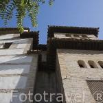 Torres exteriores del Palacio de Dar al-Horra. Barrio del Albaycin. Ciudad de GRANADA. Andalucia. España