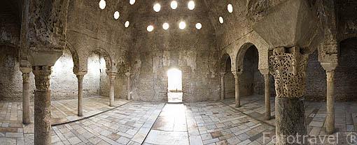 Antiguos baños arabes del Bañuelo. Barrio del Albaycin. Ciudad de GRANADA. Andalucia. España