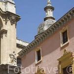 Una cupula de la catedral desde la Plaza Pasiegas. Ciudad de GRANADA. Andalucia. España