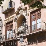Fachada de la Universidad Vieja- Curia,s.XVI en la Plaza de Bib-Rambla. Ciudad de GRANADA. Andalucia. España