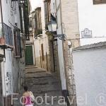 Calle de San Gregorio. Barrio del Albaycin. Ciudad de GRANADA. Andalucia. España