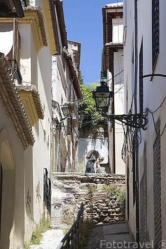 Cuesta Pañera. Barrio del Realejo. Ciudad de GRANADA. Andalucia. España