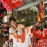 Tienda de recuerdos en la calle Oficios. Ciudad de GRANADA. Andalucia. España