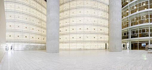 Interior edificio Caja Granada. Ciudad de GRANADA. Andalucia. España