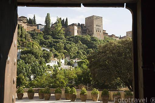 Palacio de los Cordova. Cuesta del Chapiz. Barrio del Albaycin. Ciudad de GRANADA. Andalucia. España