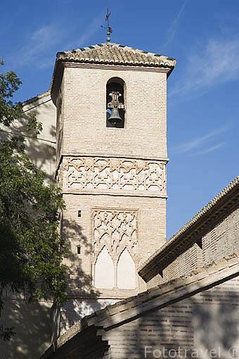 Torre mujedar de la iglesia de San Juan de los Reyes. Barrio del Albaycin. Ciudad de GRANADA. Andalucia. España