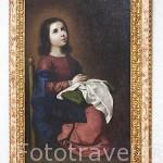 """La Virgen niña REZANDO"" por Francisco de Zurbaran. Oleo sobre lienzo. Fundación Rodriguez Acosta. Ciudad de GRANADA. Andalucia. España"