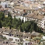 Campo del Principe rodeado de por el barrio del Realejo. Ciudad de GRANADA. Andalucia. España