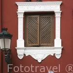 Detalle de una ventana. Plaza de la Romanilla. Ciudad de GRANADA. Andalucia. España