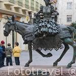 Monumento a la mujer en Jamuga. Ciudad de ANDUJAR. Jaen. Andalucia. España