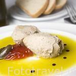Plato de Pate de perdiz en aceite de oliva virgen y confitura de tomate. Restaurante Casa Andres. BAILEN. Jaen. Andalucia. España