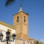 Iglesia de VILLANUEVA DE LA REINA en la plaza de la Constitución. Jaen. Andalucia. España
