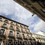 Edificios en la calle Manuela Malasaña. Madrid. España