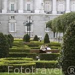 Jardines junto al Palacio Real . MADRID. España
