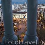 Vistas de la Plaza de Santa Ana desde la suite del hotel ME. En plaza de Santa Ana 14. MADRID. España
