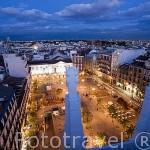 Plaza de Santa Ana desde lo alto del hotel ME. En plaza de Santa Ana 14. MADRID. España