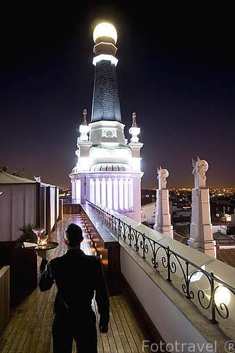 Terraza del hotel Me. Plaza de Santa Ana. Madrid. España