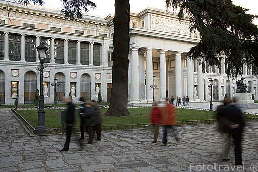 Edificio del Museo del Prado, la más grande pinacoteca del mundo. MADRID. España
