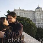 El Palacio Real y jardines de Sabatini. Madrid. España