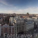 Calle de Alcala (der) y Gran Via (Izq). MADRID. España