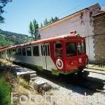 Tren Cercedilla - Cotos. Estación de 7 Picos. Sierra de Guadarrama. Comunidad de Madrid. España