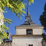 Torre de la iglesia. Pueblo de NUEVO BAZTAN. Comunidad de Madrid. España