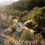 El rio Manzanares a su paso por la Pedriza. Sierra de Guadarrama. Comunidad de Madrid. España