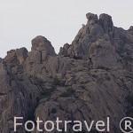Formaciones rocosas en el Parque Natural de la Pedriza. Sierra de Guadarrama. Comunidad de Madrid. España