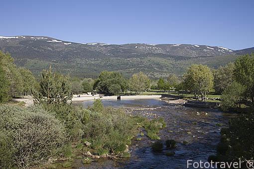 Piscinas de las Presillas. Sierra de Guadarrama. Comunidad de Madrid. España