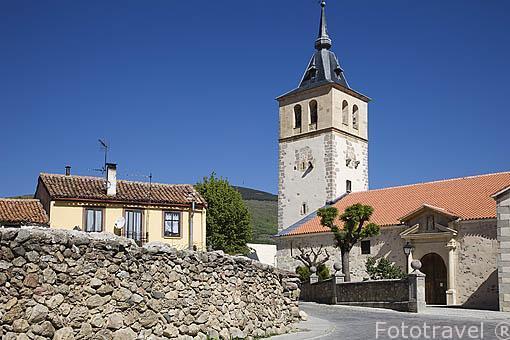 Iglesia de San Andres Apostol. S.XV. RASCAFRIA. Sierra de Guadarrama. Comunidad de Madrid. España