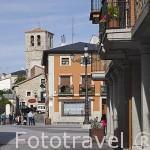 Calle de Jeronimo Castro. Pueblo de MIRAFLORES DE LA SIERRA. Sierra de Guadarrama. Comunidad de Madrid. España