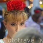 Chulapas con su manton de manila. Las Vistillas. Ciudad de MADRID. Comunidad de Madrid. España