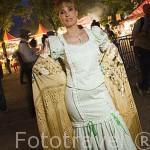 Chulapa con su manton de manila. Las Vistillas. Ciudad de MADRID. Comunidad de Madrid. España