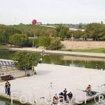Pescadores. Parque Juan Carlos I. Campo de las Naciones. Madrid. España