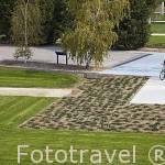 Jardines y ciclista
