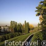 Vistas sobre el jardin islamico. Estancia de las Delicias. Parque Juan Carlos I. Campo de las Naciones. Madrid. España