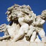 Detalle escultura en la entra al Palacio Real. ARANJUEZ. Comunidad de Madrid. España Spain