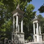 Una de las entradas al Jardin del Principe. ARANJUEZ. Comunidad de Madrid. España. Spain