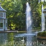 Quioscos chinescos en el jardin del Principe. ARANJUEZ. Comunidad de Madrid. España. Spain