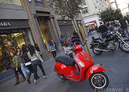 Calle de Gran Via. Cerca de la plaza de Callao. Madrid capital. Comunidad de Madrid. España