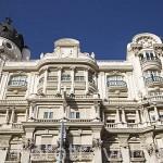 Antiguos edifiicios en la Gran Via. Madrid. Comunidad de Madrid. España