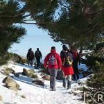 Senderistas. Parque Natural de Peñalara. Sierra de Guadarrama. Comunidad de Madrid. España