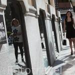 """Tiendas de lujo moda y complementos en la """"Milla de Oro"""", calle de Jose y Ortega y Gasset. Madrid. España"""