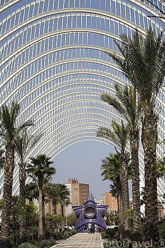 L Umbracle, Espacio entrada a la Ciudad de las Artes y las Ciencias. Santiago Calatrava. VALENCIA. España